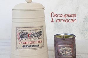 デコパージュ・リメ缶ワークショップが熱い それぞれの個性