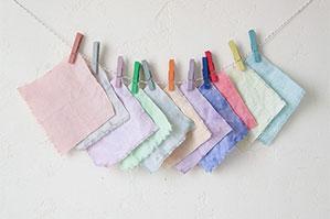 筆を洗った色水で布を染めることができる? ?! アニースローンペイント
