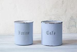 ペイント使用後の缶をフランスアンティーク缶にリメイクしませんか!!