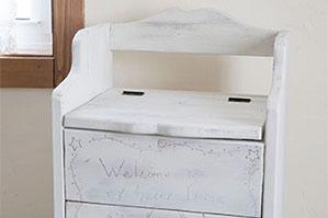 アメリカンカントリーのボックスをシャビーシックなホワイト家具に変身「アップサイクルペイント」!